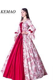 trajes vintage victorian mulheres Desconto Livre shipp Venda Quente Vitoriano Rococo Traje das Mulheres Adultos Vestido Roxo Cosplay Do Vintage Reunidos Mangas Compridas Sino Tornozelo comprimento