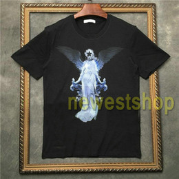 2020 футболки с принтом ангела  2020 Hot sell Brand tag clothing mens Graffiti phantom angel wing printing t shirts fashion t shirt Designer t shirts Camiseta tee tops скидка футболки с принтом ангела