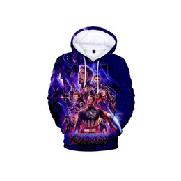 2019 cappuccio supereroe Marvel The Avengers 4 Endgame Quantum Realm Costume Cosplay Felpe da uomo Felpa con cappuccio Slipover Jacket Supereroe Allentato e confortevole cappuccio supereroe economici