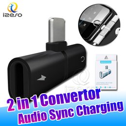 netzadapter apfel verpackung Rabatt 2 in 1 Audio Sync-Ladeadapter Metal Music Power Converter für iPhone XS MAX XR X 7 8 Plus mit Einzelhandelsverpackung