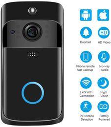 New Wireless WiFi campainha infravermelho campainha Camera IP5 Waterproof HD telefone WiFi Câmera de Segurança iOS Android Atualização Smart Home Doorbell de Fornecedores de câmeras de vigilância por atacado para casa