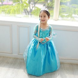 girls long cotton skirts Promo Codes - Halloween baby girls cosplay skirts children costume dress green sequined snowflake kids dresses with long cape