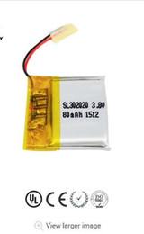 bateria recarregável pequena invisível do polímero da bateria de lítio 3.7v uso 80mah 302020 em vários produtos eletrônicos de Fornecedores de mini barco solar