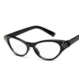 f7663bf4ca Viodream Classic Cat eye Retro Spectacle Frame diamond-studded quincunx Prescription  Eyewear Sunglasses Women Oculos De Grau