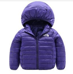 Niños gore tex chaquetas online-Chaqueta de abrigo North Kids The Boys / Girls Outwear Faceitied Chaqueta de invierno abrigos con capucha cálidos de algodón para niños