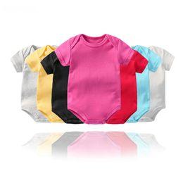 Pantalones cortos de escalada online-Mameluco del bebé 14 colores infantil de manga corta triángulo escalada ropa Niños recién nacidos algodón onesies monos mamelucos niño mono