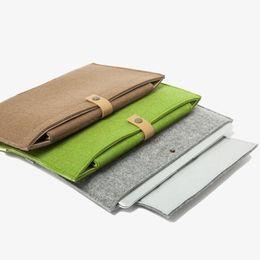 Leder schutzhülle ipad online-Lederfilz Stoßfeste Notebooktasche Notebooktasche für MacBook iPad Air Mini 5 Pro 11 13 15 Zoll Schutzhülle Tablet Fällen GSZ220