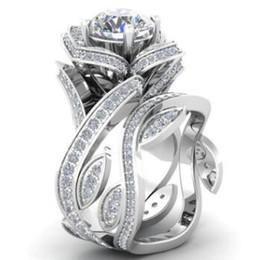 mayoristas de piedra Rebajas Plateado anillos de amor de cristal de moda Rhinestone anillo de alta calidad rosa anillos de diamante para los amantes del regalo envío gratis