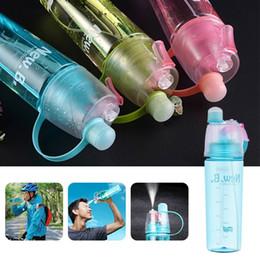 envases porta botellas Rebajas 400/600 ML Botella de agua portátil BPA de plástico libre a prueba de fugas de bebidas deportivas Botellas de spray Viaje al aire libre