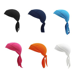 wholesale pirate skull caps Coupons - Unisex Quick-dry Bike Cycling Cap Headscarf Pirate Scarf Headband Men Hood MTB Racing Bicycle Hat Running Sport Cap