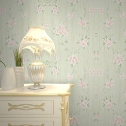 Свежие пастырские розовые цветы полный узор большая фреска нетканые обои удобные экологически чистые настенные покрытия для гостиной от
