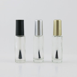 small polish bottle Promo Codes - Small Empty Nail Polish Bottle with Brush cap 8ml 8cc Nail Polish Cosmetic Container Clear glass Bottles Tube 300pcs