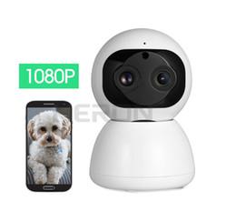 Câmera de rede interna sem fio on-line-1080 P Binocular sem fio da câmera wi-fi rede móvel telefone remoto HD night vision home indoor monitor de casa monitor de bebê