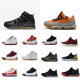 low priced 344c3 11a32 Mens lebron 16 low basketball shoes for sale SuperBron Blue Red Black gold  Tan cheap new retro lebrons sneakers tennis with box size 7 12