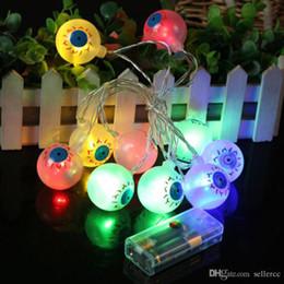 Globe oculaire 10 Leds Horrible Party d'Halloween Chaîne Lumière Terreur Globe oculaire Strand lampe de poche Festival de Noël Décorations ? partir de fabricateur