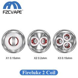 atomiseur de réservoir kanger t3s Promotion Authentique Freemax Fireluke 2 Remplacement de la tête de bobine X1 Single X2 Dual X3 Noyau de vape triple maille pour kit Twister 80W 100% d'origine