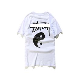 2019 t-shirts occidentaux de mode 19SS mens designer t shirts mode occidental chinois combiné Taiji carte impression t-shirts mens luxe d'été t-shirt lettre coton hommes t-shirts t-shirts occidentaux de mode pas cher