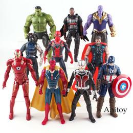 2020 figuras de invierno Marvel Avengers Figura Hulk Iron Man Capitán América Spiderman Thanos Visión Falcon Thor Soldado de invierno Figura de acción de juguete 17 cm Q190429 rebajas figuras de invierno