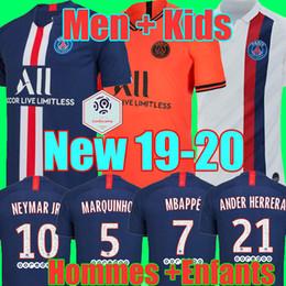 78ca28bffe Wholesale MAILLOTS DE FOOTBALL PSG JORDAN 18 19 20 soccer jersey de la psg  2019 2020