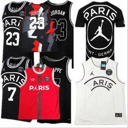 jersey de deutschland Rebajas 2019 PSG Paris Jersey 23 Michael JD MBAPPE Camisetas de baloncesto de París PSG X AJ 23 # Camiseta de baloncesto Jordam Paris Saint Germain