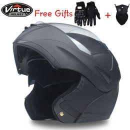 el mejor envío de la motocicleta Rebajas Envío gratis Best Sales Safe Cascos de moto Flip Up Casco Undrape Face Combination Double Lenses