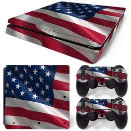 Canada Fanstore le drapeau américain Skins Sticker autocollant de protection complète pour Playstation PS4 Slim Console et 2 Télécommande Offre