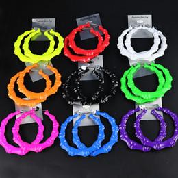 Конфеты цвета модные большие серьги обруча большой круглый круг серьги хип-хоп петли серьги для женщин партии ювелирных изделий cheap earring loops от Поставщики серьги петли