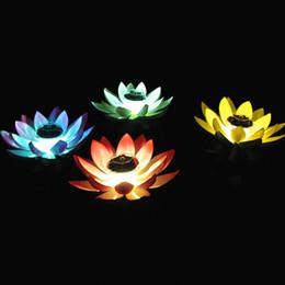 Parties de la piscine flottant led lumières en Ligne-Luminaire solaire multicolore LED Lotus RVB Étanche Flottant Extérieur Night Light Pool Automatique On / Off Garden Pool Party