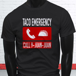 62f21aedc cheap funny t shirts Coupons - TACO EMERGENCY 911 JUAN FUNNY MEXICAN FOOD  LOVE Mens Black