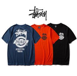 Heißes schwarzes männer tshirt online-stussys Männer T-Shirt Designer heiße hohe Qualität atmungsaktive T-Shirts Druck Sommer T-Shirt schwarz weiß Fabrik directred Box Logo Frauen T-Shirt 1
