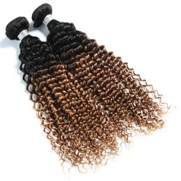 Ombre 2 Tonluk Renk 1B / 27 Bakire Brezilyalı İpeksi Düz İnsan Saç Dokuma Paketler yüksek kalite nereden ombre bakire brezilya saç rengi tedarikçiler