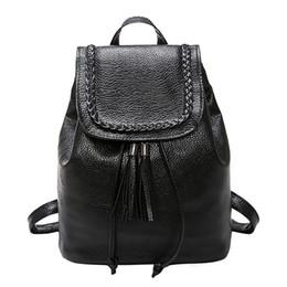 dc107ae7c5318 Schwarz Teenager Frauen Rucksäcke Mode Kleine Schultaschen für Mädchen  Peeling PU Leder Schule Weiblichen Rucksack Sac A Dos Reisetasche