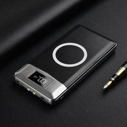 Cargadores inalámbricos portátiles online-Banco inalámbrico de energía de carga rápida Banco doble de energía USB Cargador inalámbrico de 10000mAh Powerbank 5V / 2.1A portátil externo