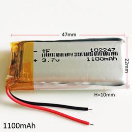 li 3.7v tablet Скидка Модель 102247 3.7 В 1100 мАч Литий-Полимерный Литий-Po Аккумулятор Литий Аккумуляторы Для DVD PAD Планшетный ПК Power Bank мобильный телефон GPS