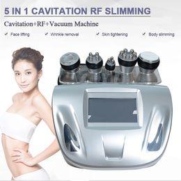 Massage sous vide mince en Ligne-La nouvelle promotion 5 en 1 cavitation ultrasonique rf amincissant la cellulite de radiofréquence du vide RF réduisent la machine de massage pour amincir