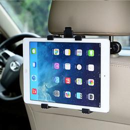 Ipad мини-сиденье заднее крепление онлайн-Заднее сиденье автомобиля Подставка для планшета Подголовник Держатель для Ipad 2 3 4 Air 5 Air 6 Ipad Mini 1 2 3 Планшетный ПК Samsung Стенды Универсальный