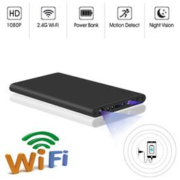Wholesale H2 H8 WIFI IR visión nocturna HD P Mini cámara MP COMS Banco de energía ultrafino DVR Grabadora de video digital operación simple con un solo botón