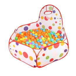 Играть в мяч онлайн-Kid Play Tent Ball Pit Pool с баскетбольной сумкой для малышей Детские домашние животные Детский манеж Игрушка из банного шарика для бассейна (без шариков)