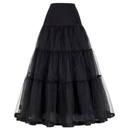 Kadınlar Için Siyah Kırmızı Retro Etek Düğün Moda Bağbozumu Uzun Etekler Kabarık Etek Jüpon Balo İmparatorluğu Vual Tül Petticoat nereden