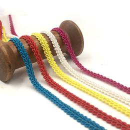 Tecido de malha crocheted on-line-0,8 centímetros Crocheted Curve Lace Fabric guarnição da fita Centipede trançado Lace DIY Costura Roupas Acessórios Casamento Craft