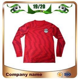 Equipos deportivos camisetas de fútbol online-2019 Egipto Camiseta de fútbol de manga larga 19/20 Casa Roja 10 M.salah Camiseta del equipo nacional Deportes personalizados Uniformes de fútbol