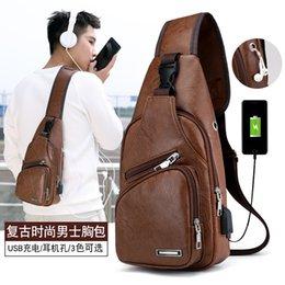 карманный пресс Скидка USB зарядка нагрудная сумка 2020 осень новый взрыв стиль повседневная мода плечо рюкзак PU мужская нагрудная сумка