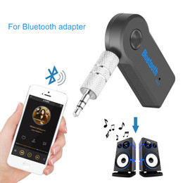 Universal-3,5-mm-Bluetooth Car Kit A2DP Wireless-AUX Audiomusik-Empfänger-Adapter freihändig mit Mic für Telefon MP3 Retail Box von Fabrikanten