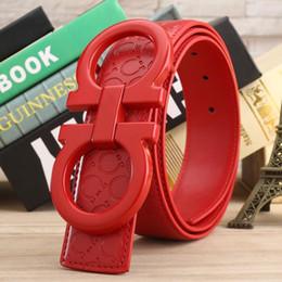 kleider breiten hüften Rabatt Heiße verkaufende neue Art und Weise riem rote Farbe große Schnallenledergürtelfrauen-Manngürtel nicht mit Kasten für Geschenk 86887