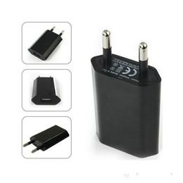 Canada Portable 5V Simple chargeur mural universel US / EU USB Adaptateur mural pour prise universelle E-cigarette batterie 510 eGo EVOD série Offre