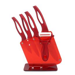 2020 zirkonia messer YKC Hot Beauty Geschenke Zirkonia Rot Griff Keramikmesser-Halter-Küche Set 3inch 4inch 5Inch + Peeler + Halter Küchenmesser günstig zirkonia messer
