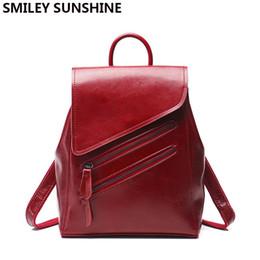 Argentina SMILEY SUNSHINE mochila de mujer mochilas de cuero genuino para niñas adolescentes mochila pequeña mochila para mujer bolso de hombro # 252323 supplier smiley backpacks Suministro