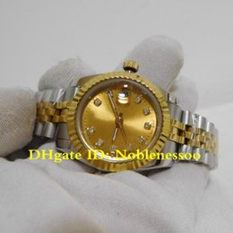 Wholesale 16 Style Ladies Luxury Watch Datejust Lady mm Gold Steel Diamond Dial Jubilee Bracelet Asia Movement Women s Automatic Watches