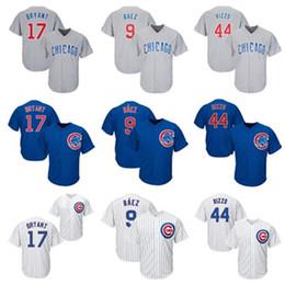 jersey de béisbol de franela Rebajas Para mujer para hombre de Jóvenes de Chicago Cachorros niños Jersey Javier Baez Kris Bryant Anthony Rizzo cosido jerseys de béisbol