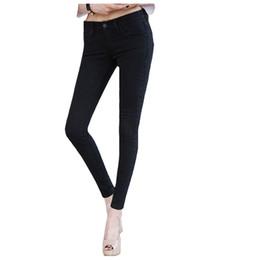 Jeans Donna In Primavera 2019 Nuova donna coreana Stretch Jeans Slim Pantaloni Piedi spedizione gratuita da